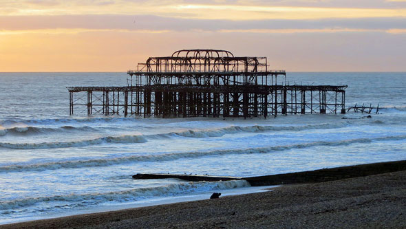 Brighton West Pier Remains in 2012 - Photo: � Ian Boyle, 27th December 2012 - www.simplonpc.co.uk
