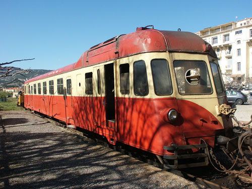 "Renault ABH 8 ""La Micheline"" autorail 204 at Calvi - Photo: � Ian Boyle, 11th April 2004 - www.simplonpc.co.uk"