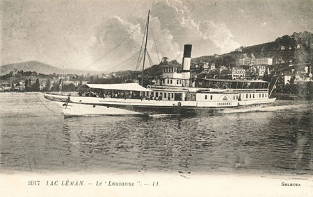 PS Lausanne (1) of CGN - Built 1900 - www.simplonpc.co.uk