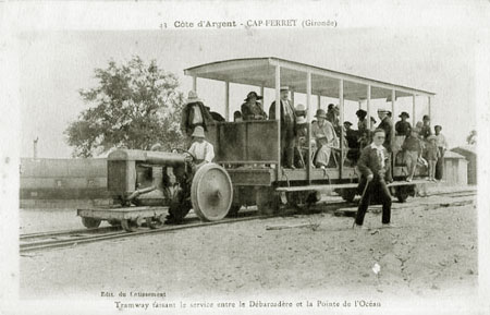 Horse tramway on Cap-Ferret - Simplon Postcards - www.simplonpc.co.uk