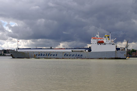 Cobelfret EGLANTINE - MV BALMORAL Cruise - Waverley Excursions -  Photo: © Ian Boyle, 10th July 2007 - www.simplonpc.co.uk