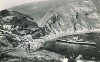 Cosens & Co paddle steamer at Lulworth Cove - www.simplonpc.co.uk