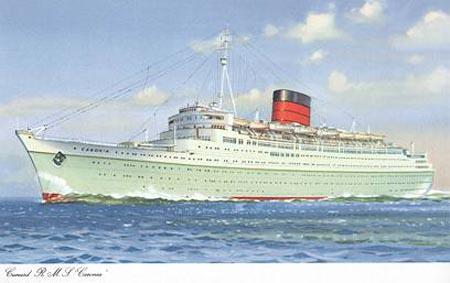 Caronia Chris Frame S Cunard Page Cunard Line History