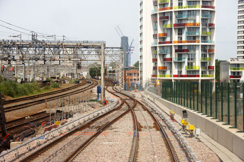 DLR - Pudding Mill Lane - Photo: © Ian Boyle, 17th June 2014 - www.simplonpc.co.uk