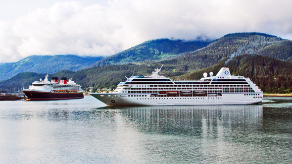 DISNEY WONDER at Juneau, Alaska  -  Images: © Marvin Jensen, 19th June 2015 - www.simplonpc.co.uk