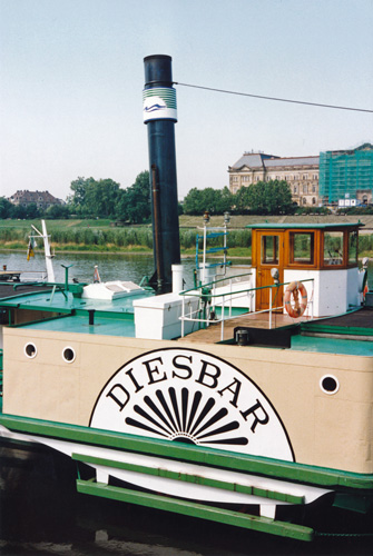 DIESBAR - Dresden Weisse Flotte - Simplon Postcards - simplonpc.co.uk - Photo: ©1978 Ian Boyle