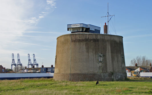 Martello Tower P at Felixstowe - Photo: © Ian Boyle, 23rd November 2012 - www.simplonpc.co.uk