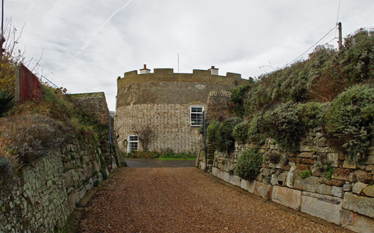 Martello Tower Q at Felixstowe - Photo: © Ian Boyle, 23rd November 2012 - www.simplonpc.co.uk