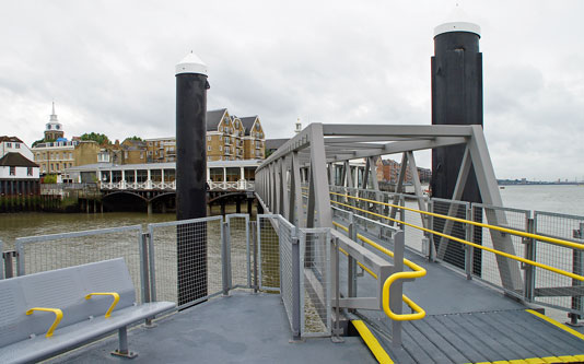 GRAVESEND TOWN PIER PONTOON - Photo: � Ian Boyle, 16th July 2012 - www.simplonpc.co.uk