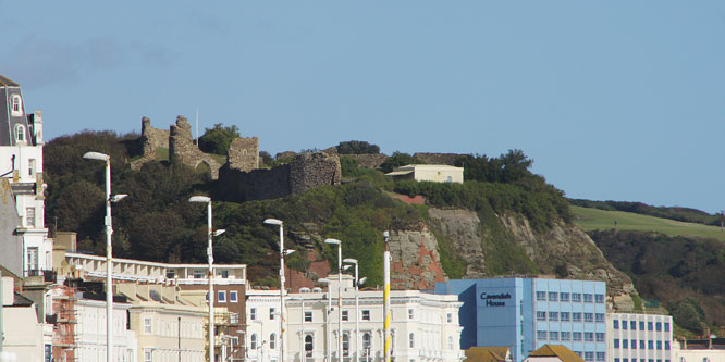 Hastings Castle - Photo: © Ian Boyle, 4th October 2012 -  www.simplonpc.co.uk