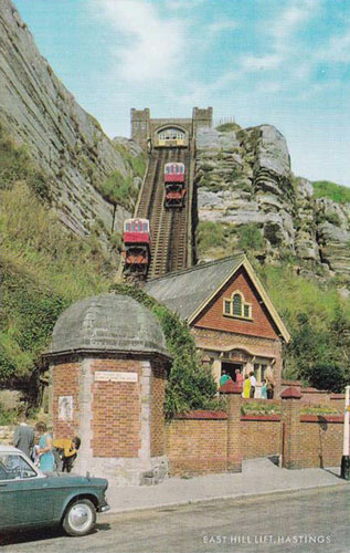 Hastings East Hill Cliff Lift - Photo: © Ian Boyle, 14th May 2007 -  www.simplonpc.co.uk