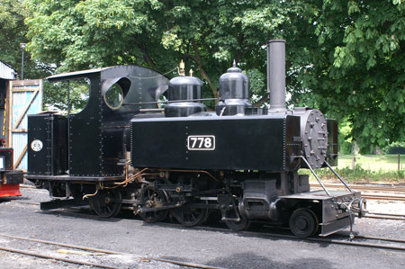 Baldwin No.778 at Page's Park shed
