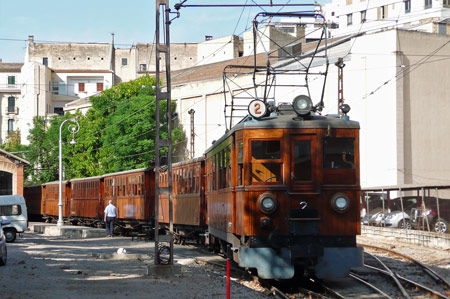 Loco No.2 at Palma - Photo: © Ian Boyle, 26th August 2009 - simplonpc.co.uk