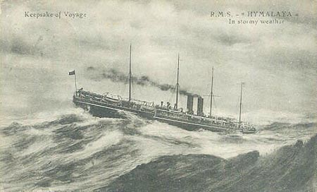 French postcard of Himalaya (2) in stormy weather..