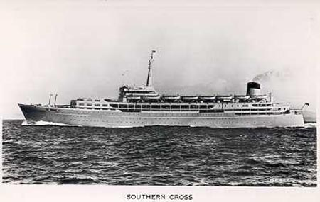 Shaw Savill Liner Southern Cross of 1955, later Azure Seas and OceanBreeze.