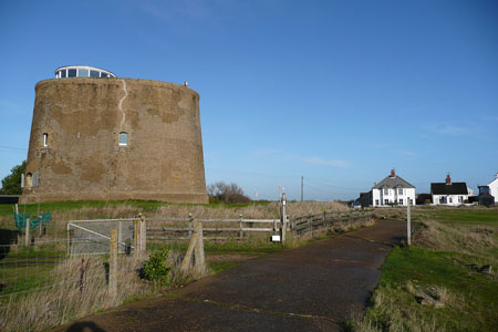 Martello Tower at Shingle Street - Photo: © Ian Boyle, 5th December 2009