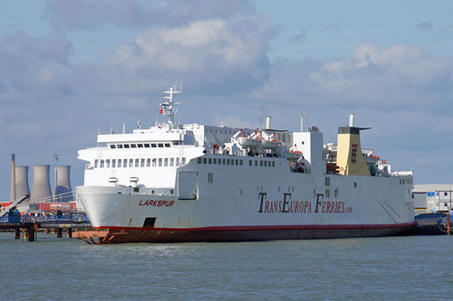 TransEuropa Ferries LARKSPUR - Photo: �2013 Ian Boyle - www.simplonpc.co.uk