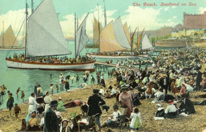 Sailing boats at Southend pre-WW1