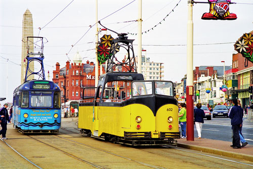 BLACKPOOL TRAMS - Photo: ©1997 Ian Boyle - www.simplompc.co.uk - Simplon Postcards
