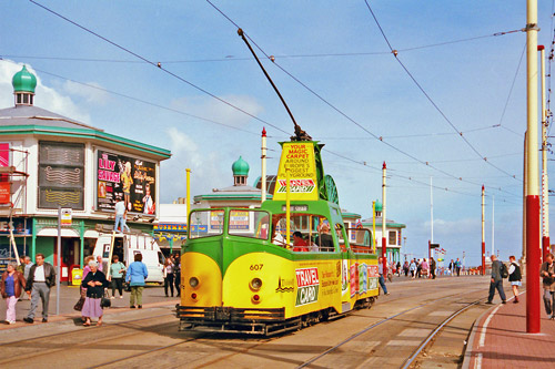 BLACKPOOL TRAMS - Photo: ©1986 Ian Boyle - www.simplompc.co.uk - Simplon Postcards