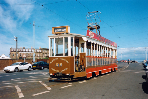 BLACKPOOL TRAMS - Photo: ©1988 Marvin Jensen - www.simplompc.co.uk - Simplon Postcards