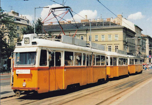 BUDAPEST TRAMS - www.simplompc.co.uk - Simplon Postcards