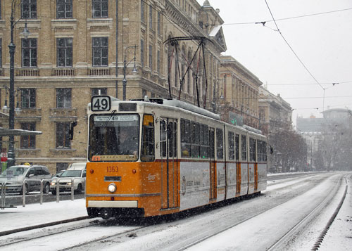 BUDAPEST TRAMS - Photo: ©2012 David Pennock - www.simplompc.co.uk - Simplon Postcards