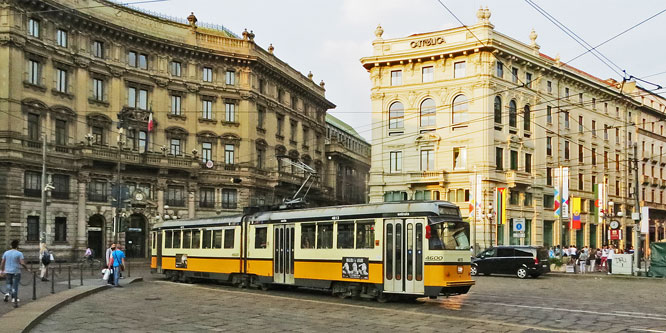 ATM - Milan Trams - Stanga/TIBB Articulated Trams - www.simplonpc.co.uk