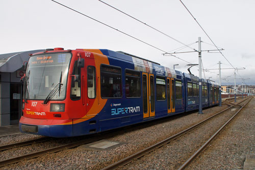 SHEFFIELD SUPERTRAM - Photo: ©2012 Ian Boyle - www.simplompc.co.uk - Simplon Postcards