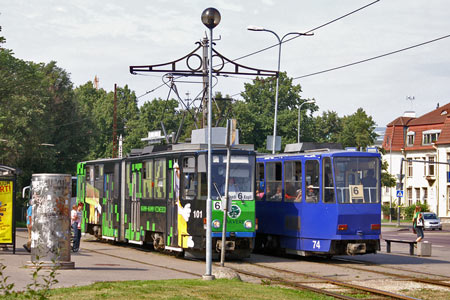 Tallinn Tatra KT4 tram - www.simplonpc.co.uk - Photo: © Ian Boyle, August 8th 2007