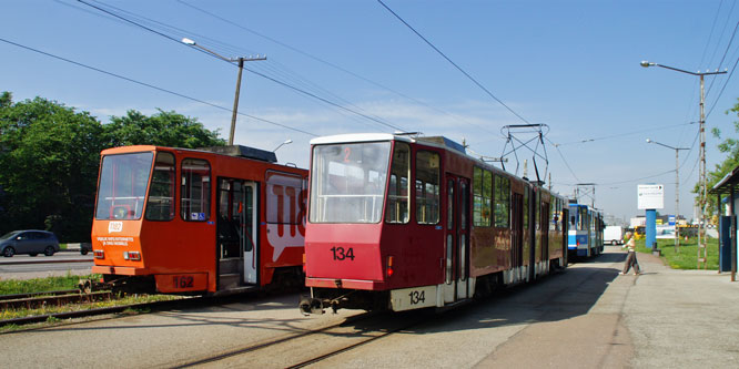 Tallinn Tatra KT4 tram - www.simplonpc.co.uk - Photo: �2013 Ian Boyle