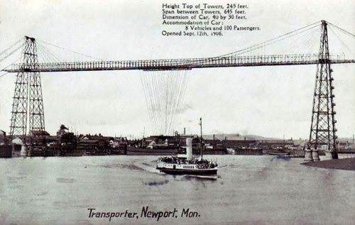NEWPORT TRANSPORTER BRIDGE - www.simplompc.co.uk - Simplon Postcards