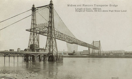 WIDNES-RUNCORN TRANSPORTER BRIDGE - www.simplompc.co.uk - Simplon Postcards