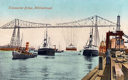 MIDDLESBROUGH TRANSPORTER BRIDGE - www.simplompc.co.uk - Simplon Postcards