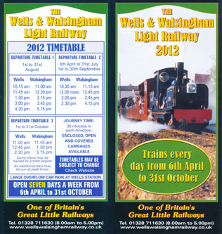 WELLS & WALSINGHAM LIGHT RAILWAY - www.simplonpc.co.uk