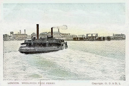 Woolwich Free Ferry - Simplon Postcards - www.simplonpc.co.uk